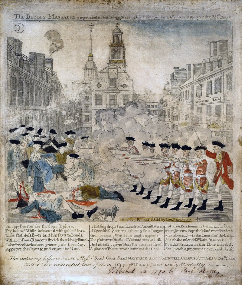 Boston Massacre, Bloody Massacre, Boston, Paul Revere, US History, America, Massachusetts, Revolutionary War,