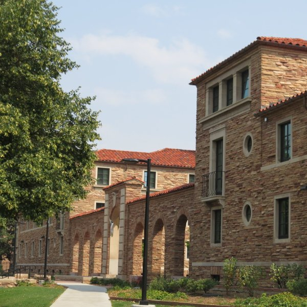 Some of the beautiful Tuscan-inspired architecture at University of Colorado Boulder