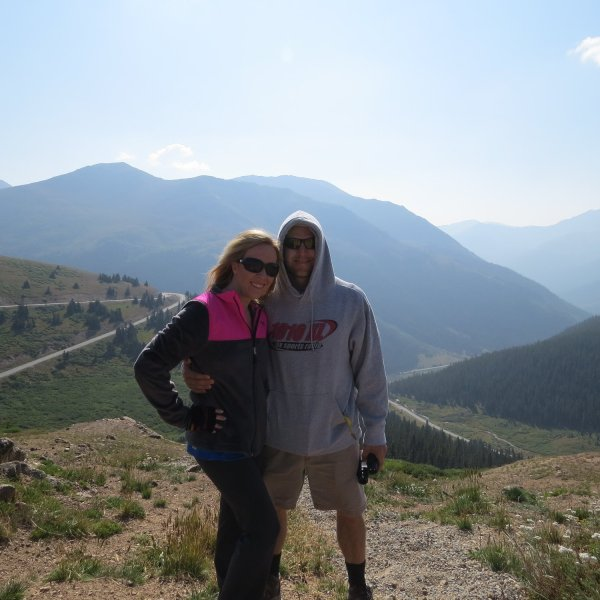 From the top of the Continental Divide on Independence Pass