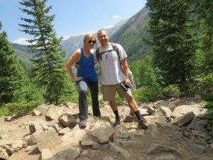 There were so many great backdrops for photos on the Crater Lake Trail