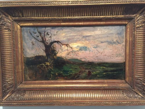"""Francois-Auguste Ravier, """"Old Tree on the Plain"""" at the Cornell Fine Arts Museum."""