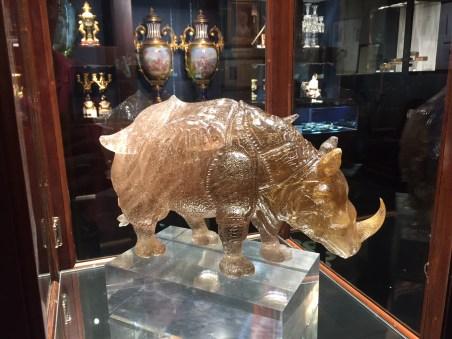 Quartz Rhino at M.S. Rau Antiques