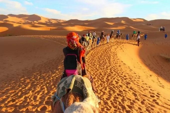 Desert Safari Camel Adventure Tour e1576805756508 - 19 Best Vacation Destinations With Family Around The World
