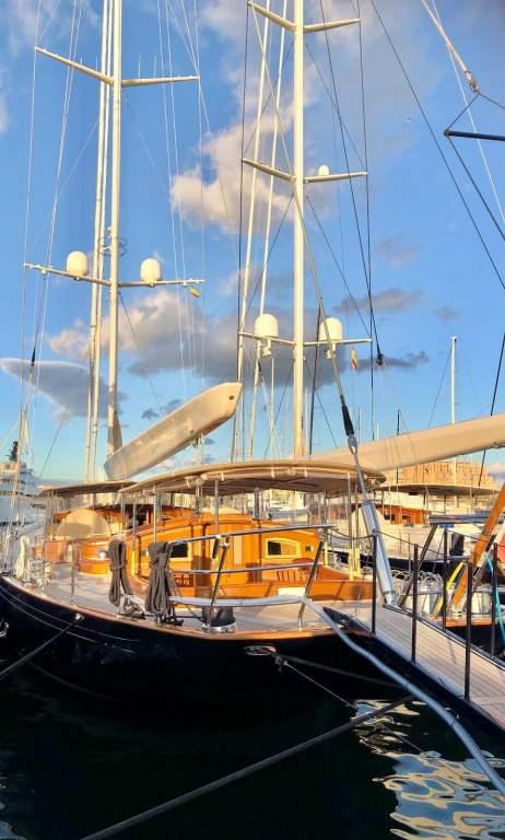 A classic sailing yacht on Palma de Mallorca