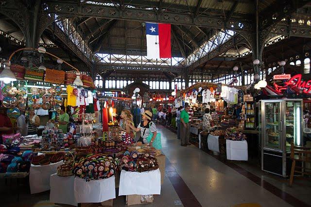 The Mercado Central, Santiago, Chile