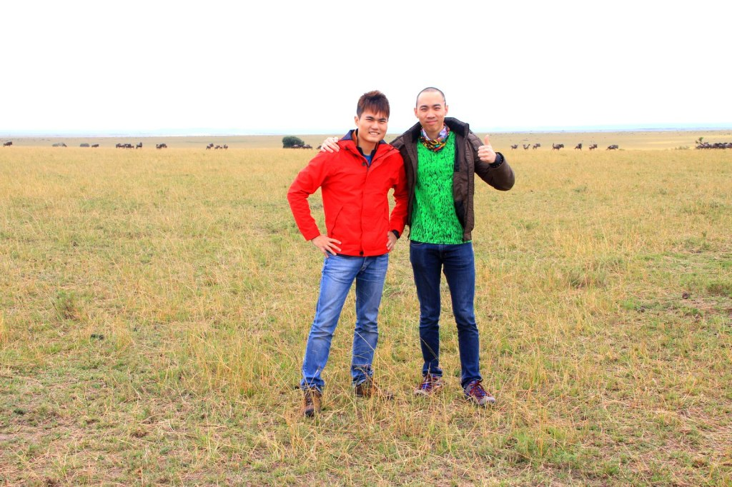 With Brother @ Maasai Mara National Park, Kenya