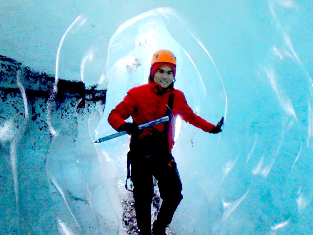 Entering Ice Cave