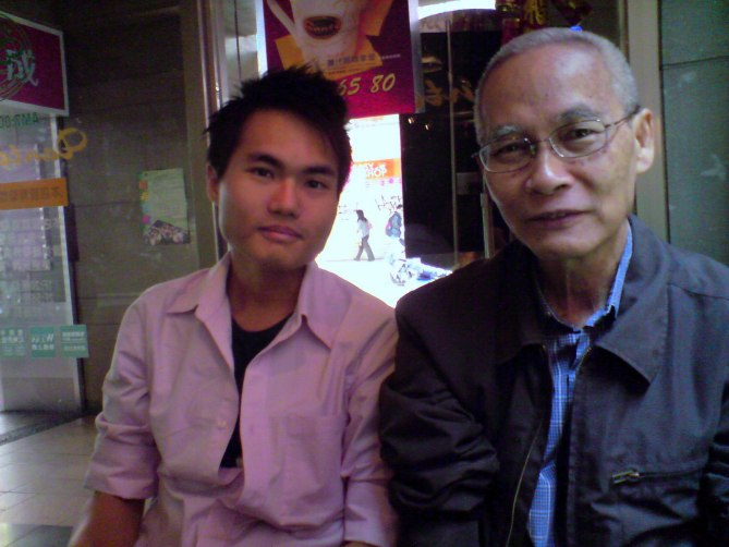 With my beloved dad in Taiwan