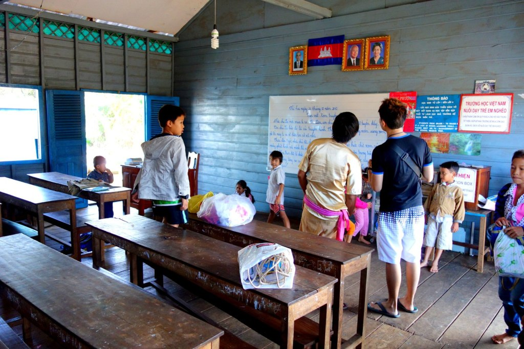 A classroom in the orphanage