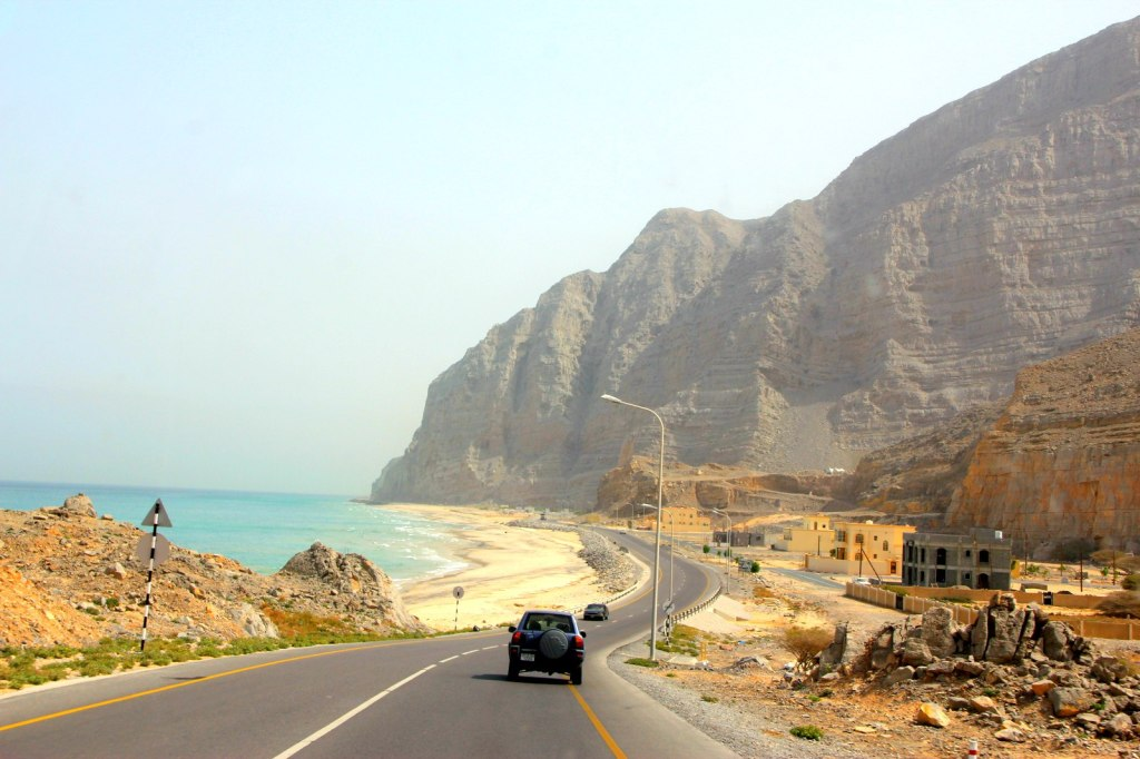 A long coast drive from Omani-UAE border