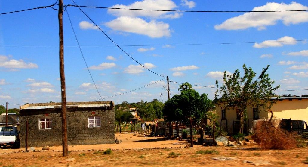 A village in Botswana