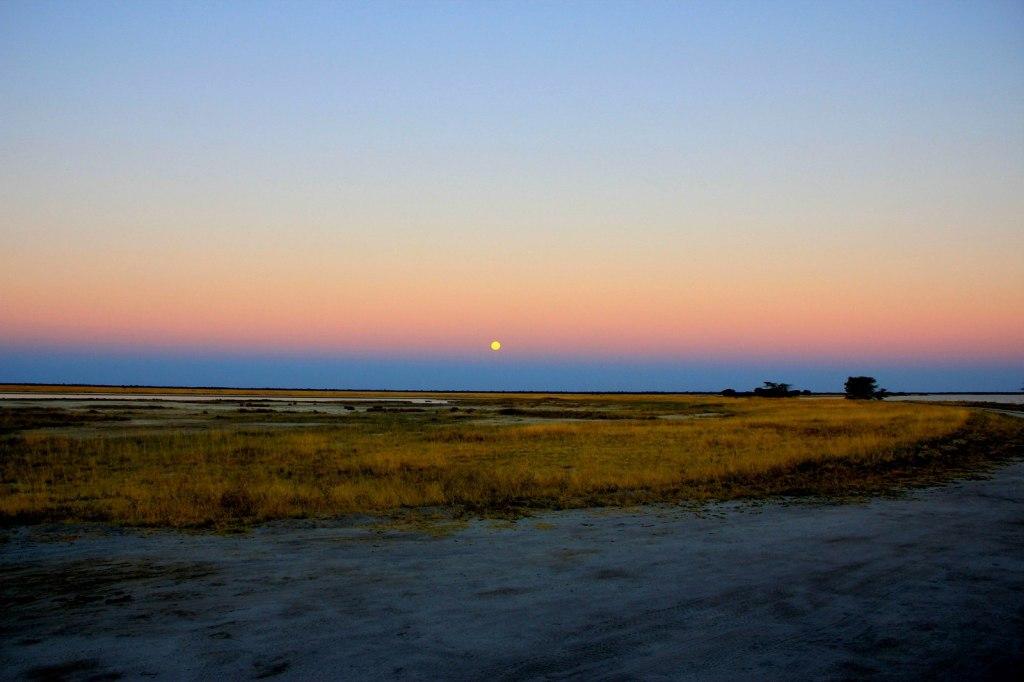 Amazing Moonrise in Botswana