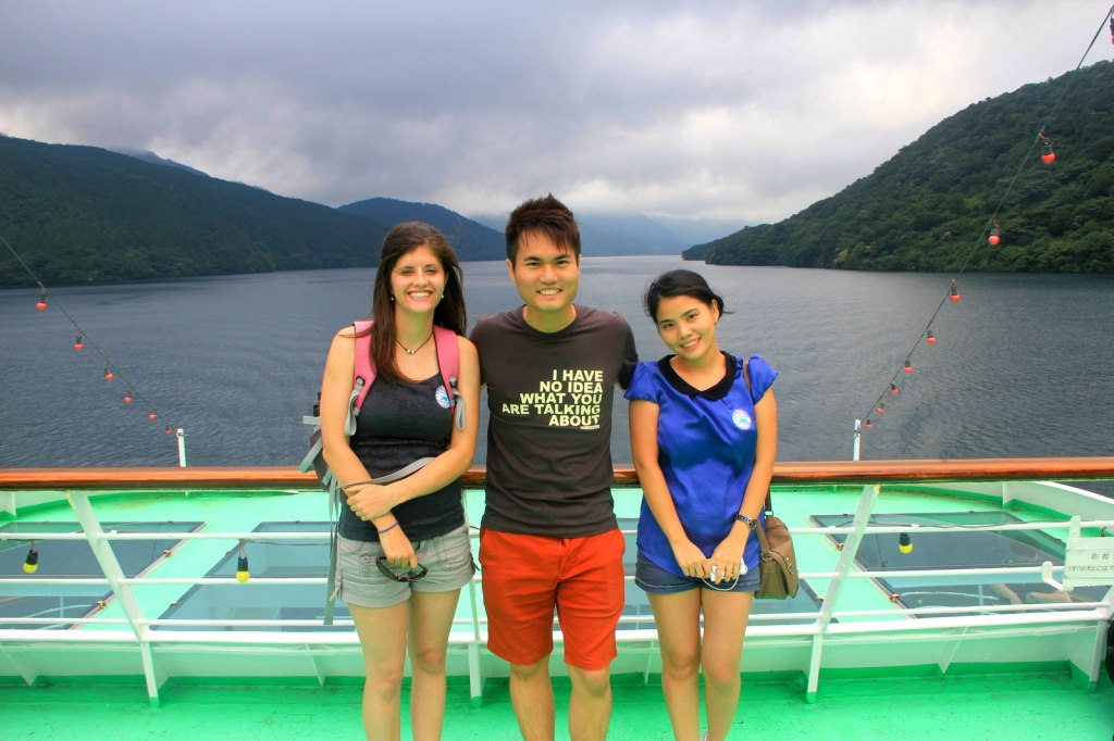 With Erin (American) and Nena (Thai) in Hakone, Japan