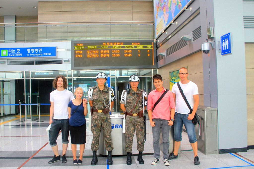 With Eirik, Heather (Norwegian) and Tommi (Finnish) in South Korea