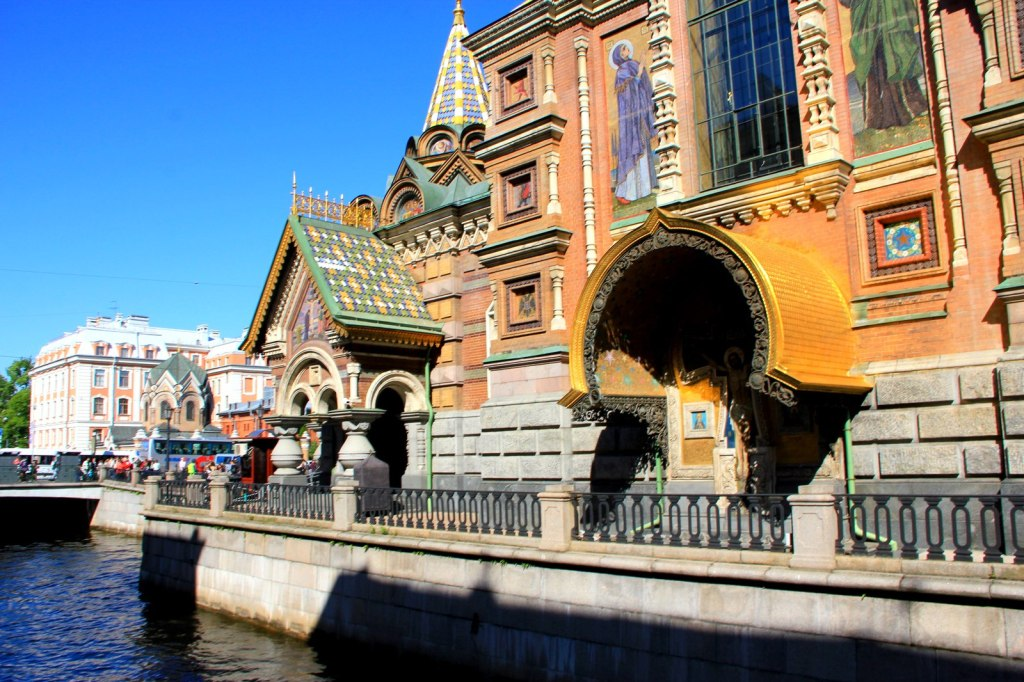 Entrance to the Church of the Saviour on Spilled Blood