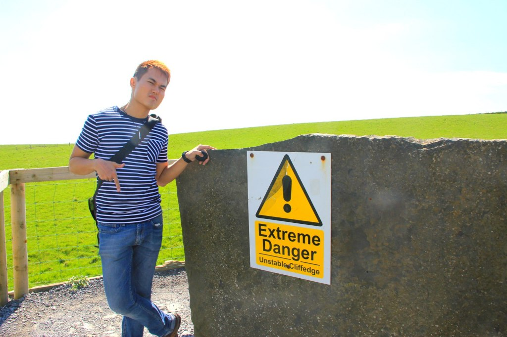 Danger warning signs at the Cliffs of Moher