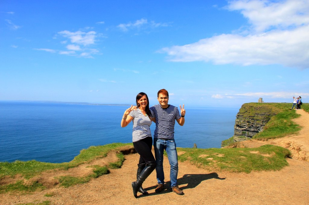 With Jaime (American) at The Cliffs of Moher
