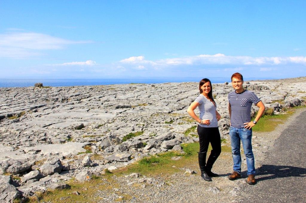 With Jaime at the Burren Lunar Landscape