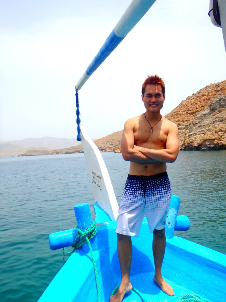 Suntanning with style in Oman