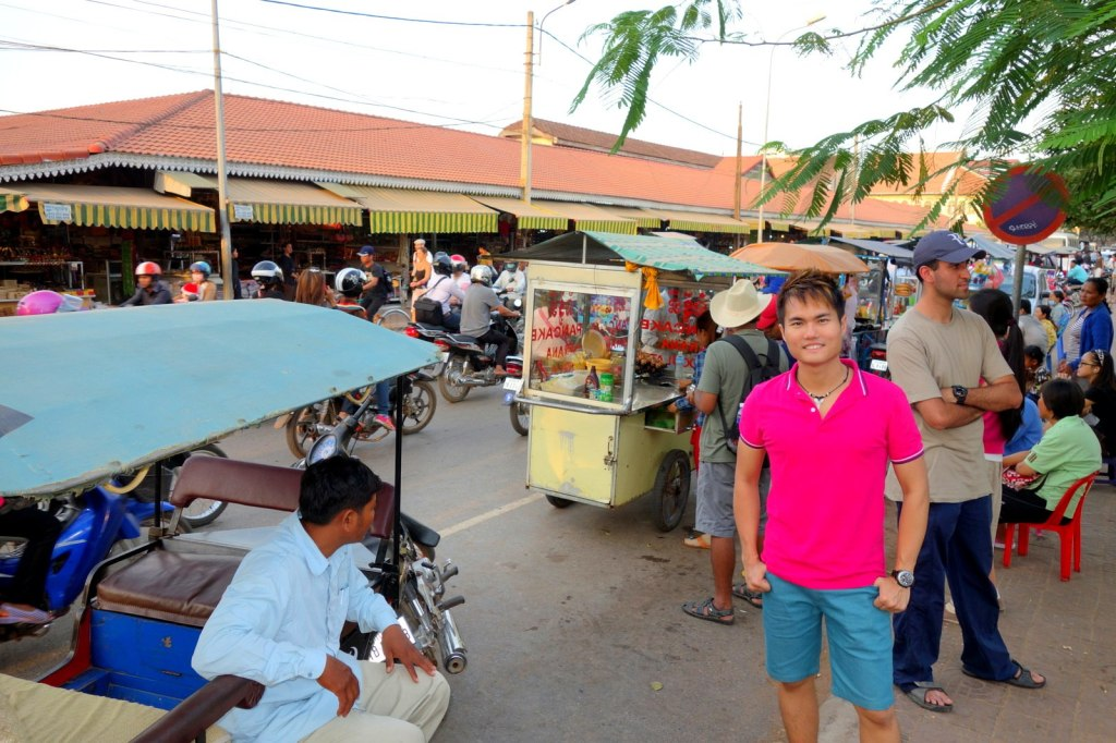 Searching for my brunch at Siem Reap Market, Cambodia