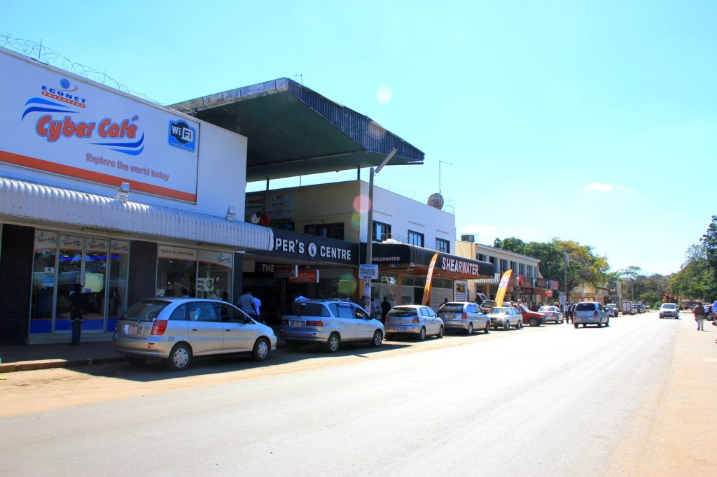 A Shopping Street at Victoria Falls Town