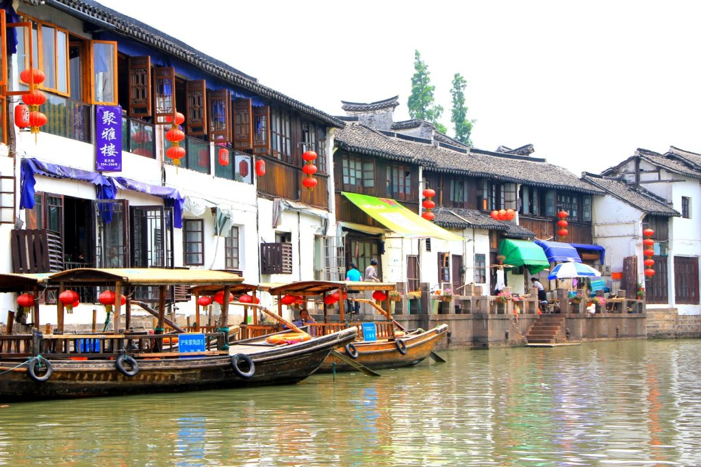 Gondolas at Zhu Jia Jiao