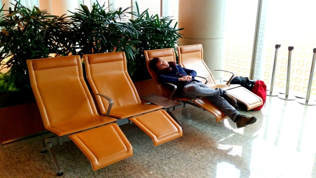 Free accommodation in the airport! :-)