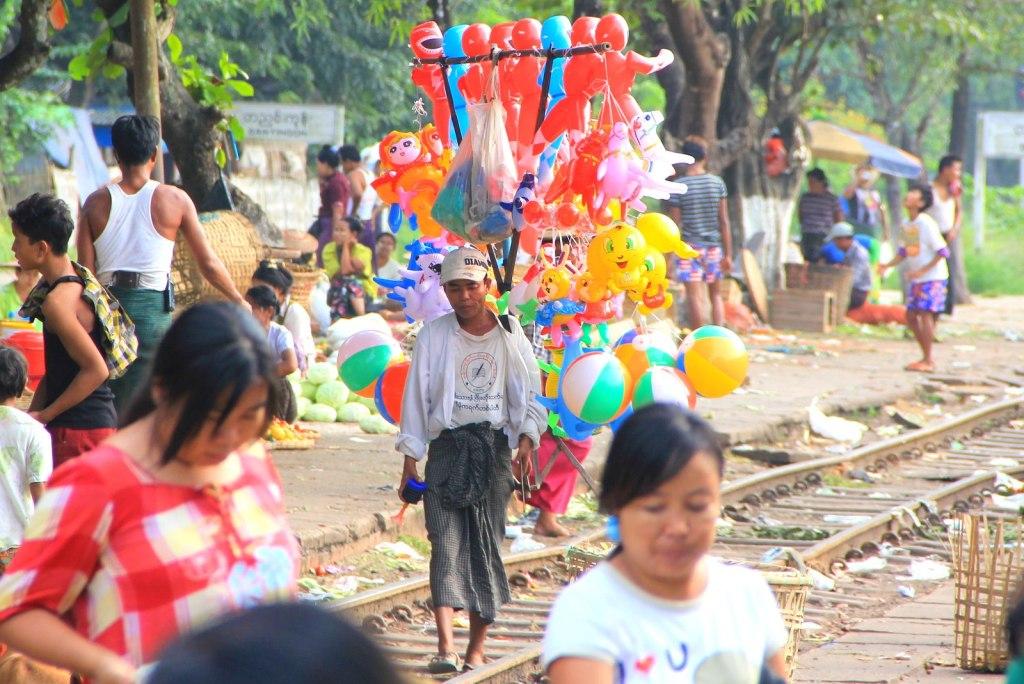 Will our Singaporean children take a glance at this Burmese children popular vendor in Myanmar?