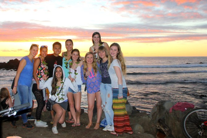 With Rotary Students in Easter Island