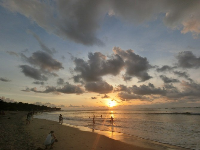 The gorgeous sunset in Kuta Beach, Bali!