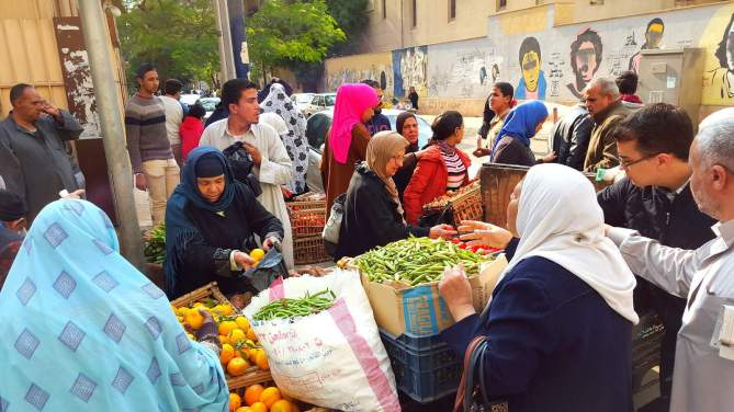 Local market in Egypt!