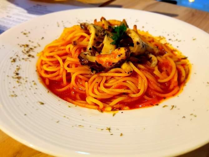 Pumpkin Tomato Spaghetti