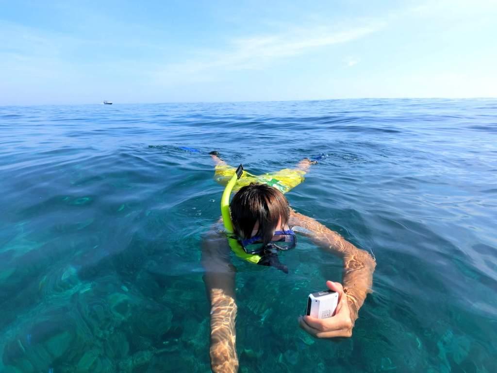 Snorkeling at Gili Air Island