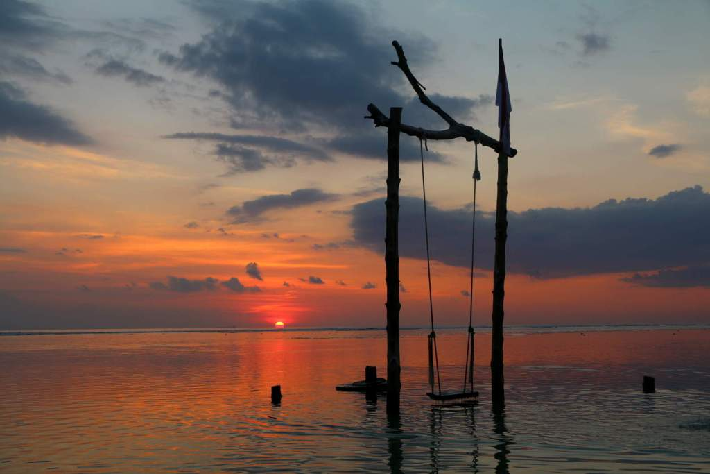 Sunset Gili Trawangan with Swing