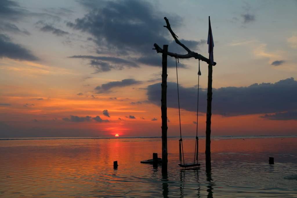 Sunset Gili Trawangan with Swing