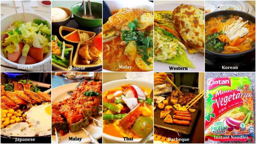 Different Vegetarian Cuisine