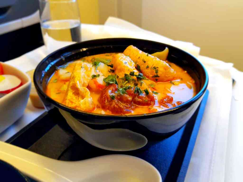 Cathay Pacific Business Class Laksa