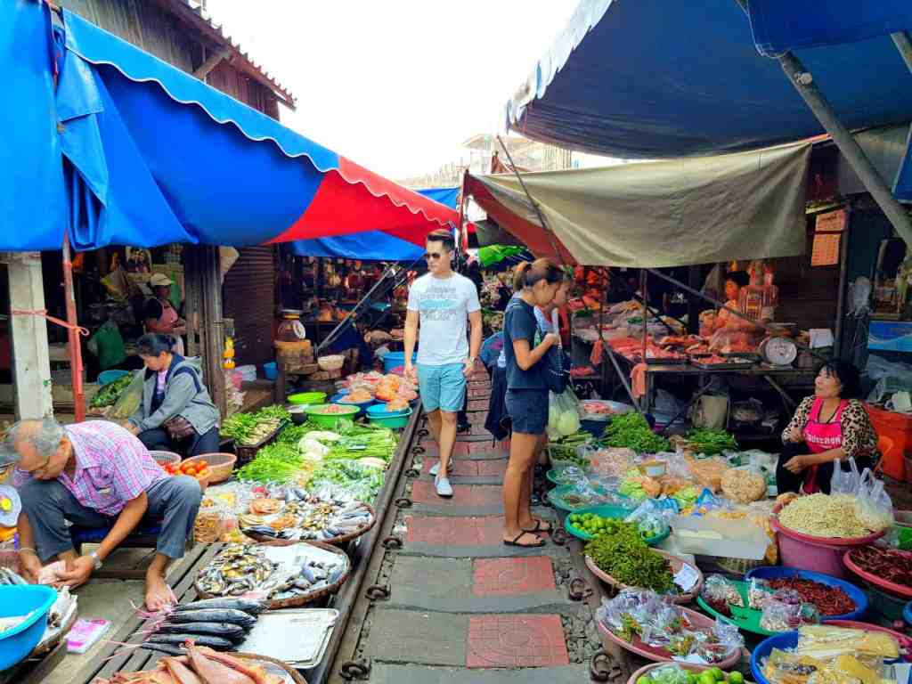 Bangkok Train Market