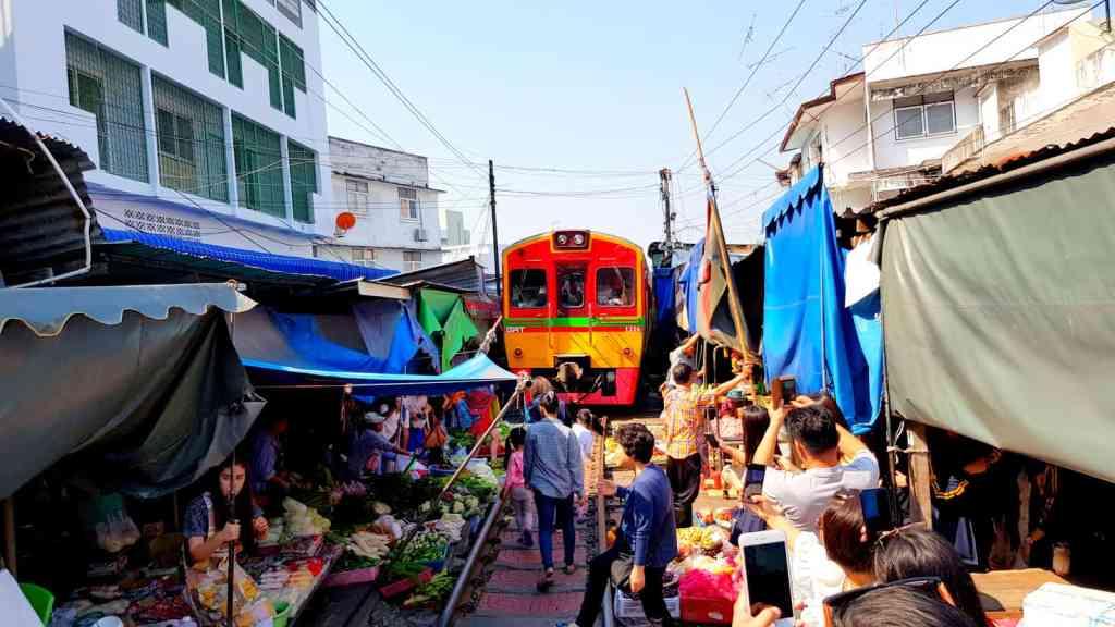Thailand Train Market