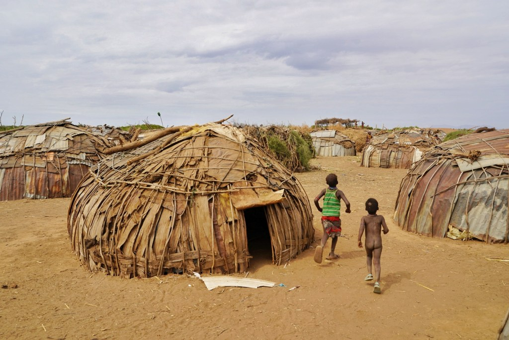 Dassanech tribe houses