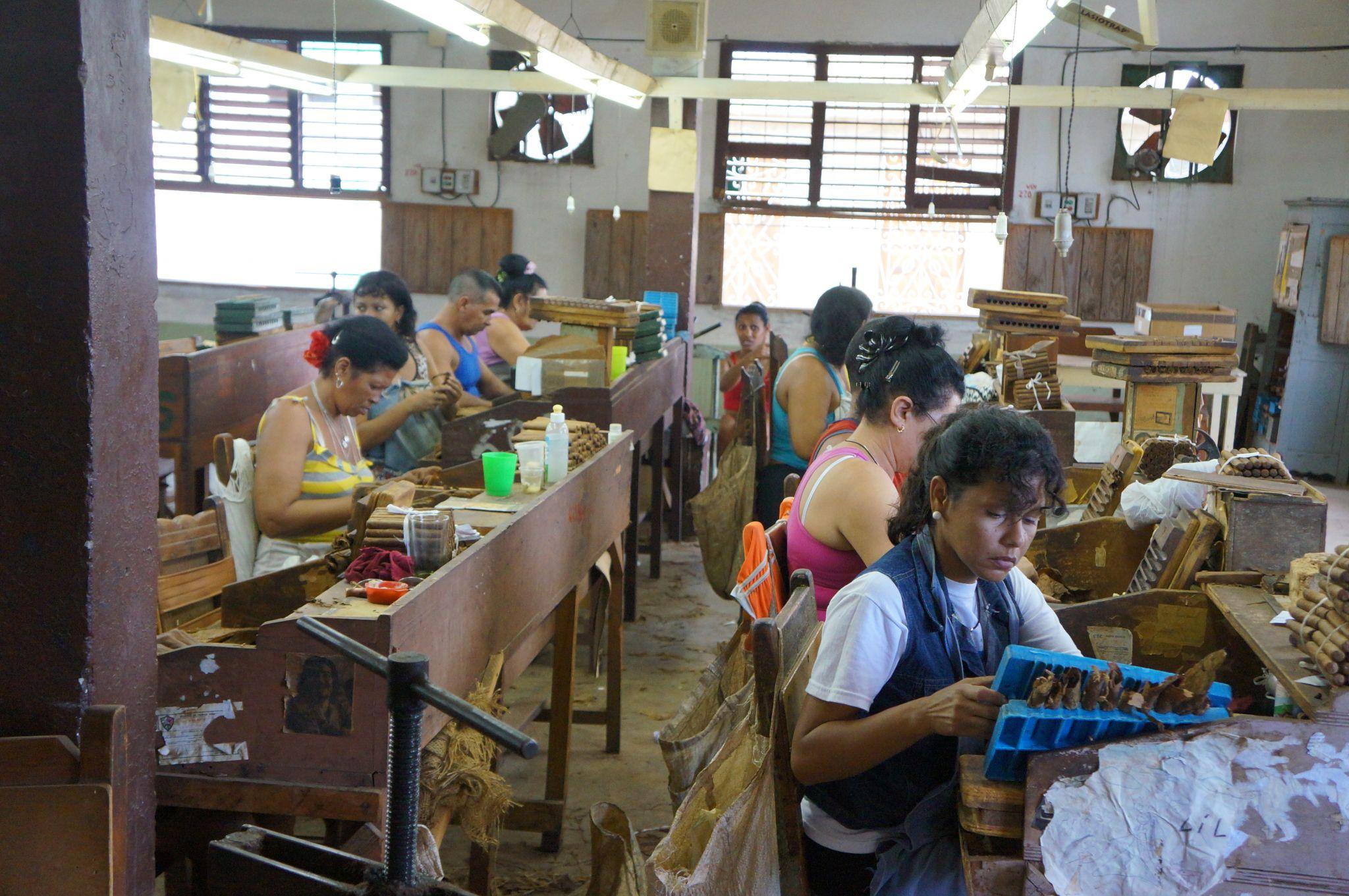 Cuban cigar factory in Trinidad, Cuba.