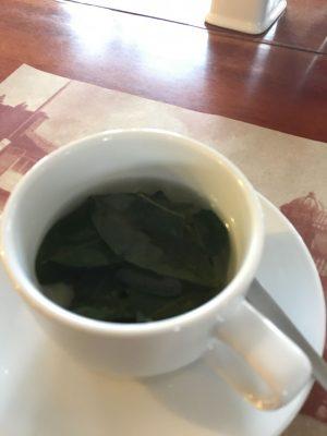 Coca tea in Cusco to help with altitude sickness