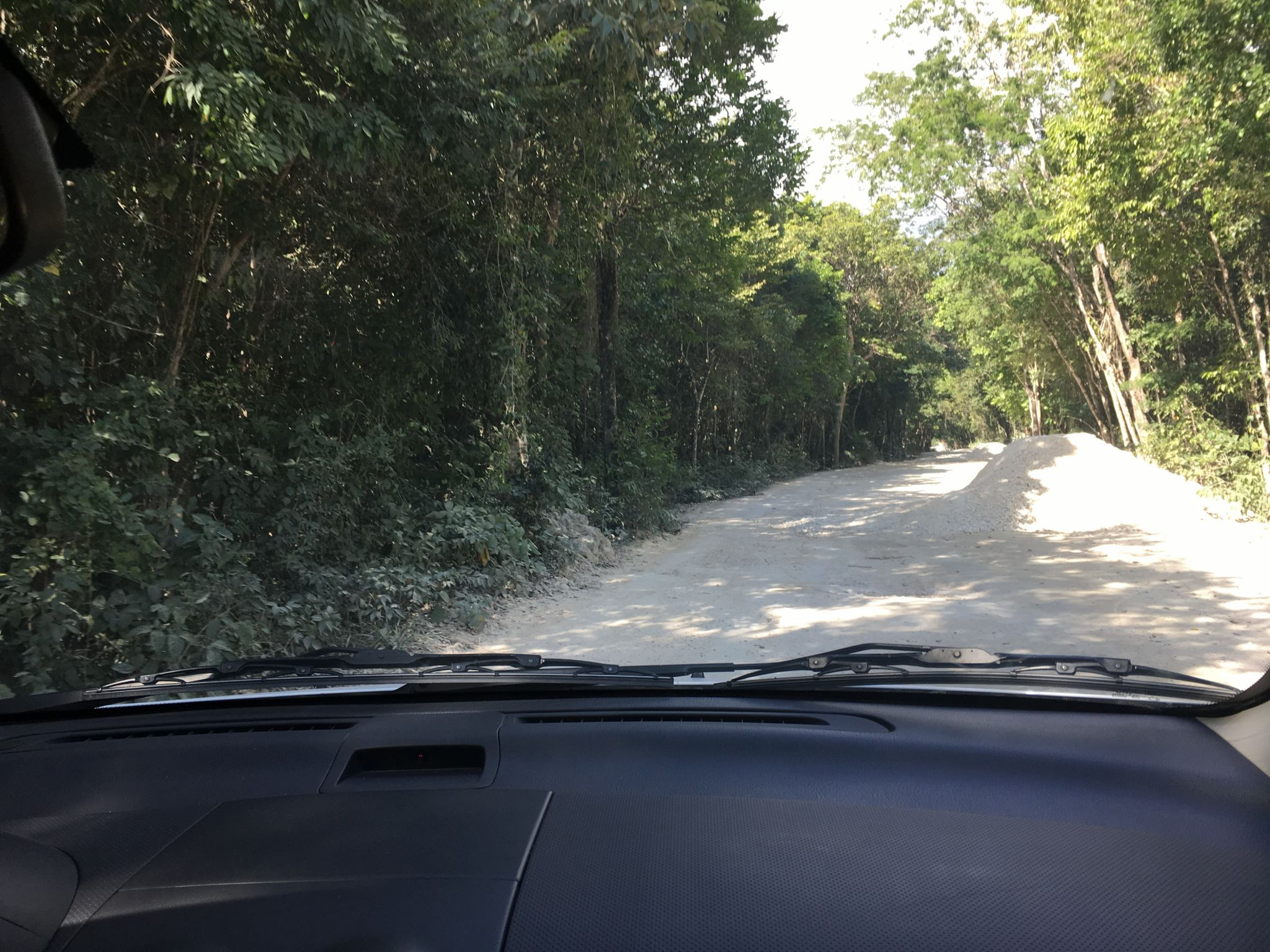 The roads aren't in the best shape in Mexico