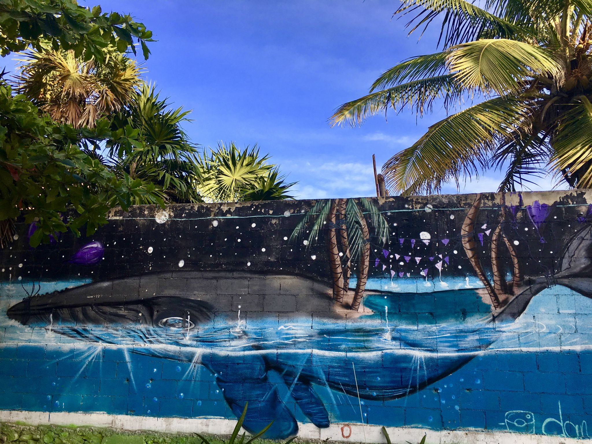 Beautiful murals by Tulum beach