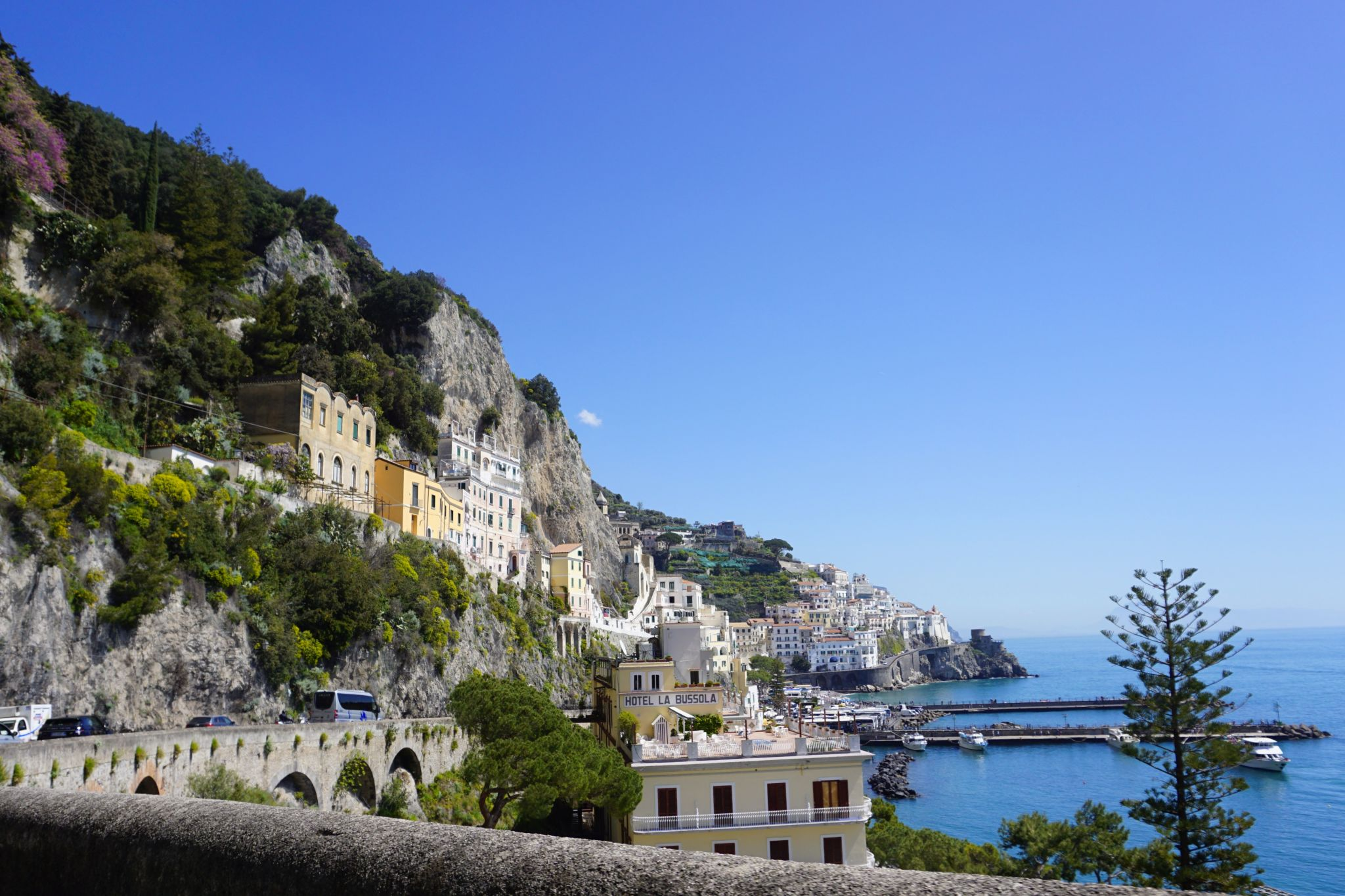 The Amalfi Drive is beautiful