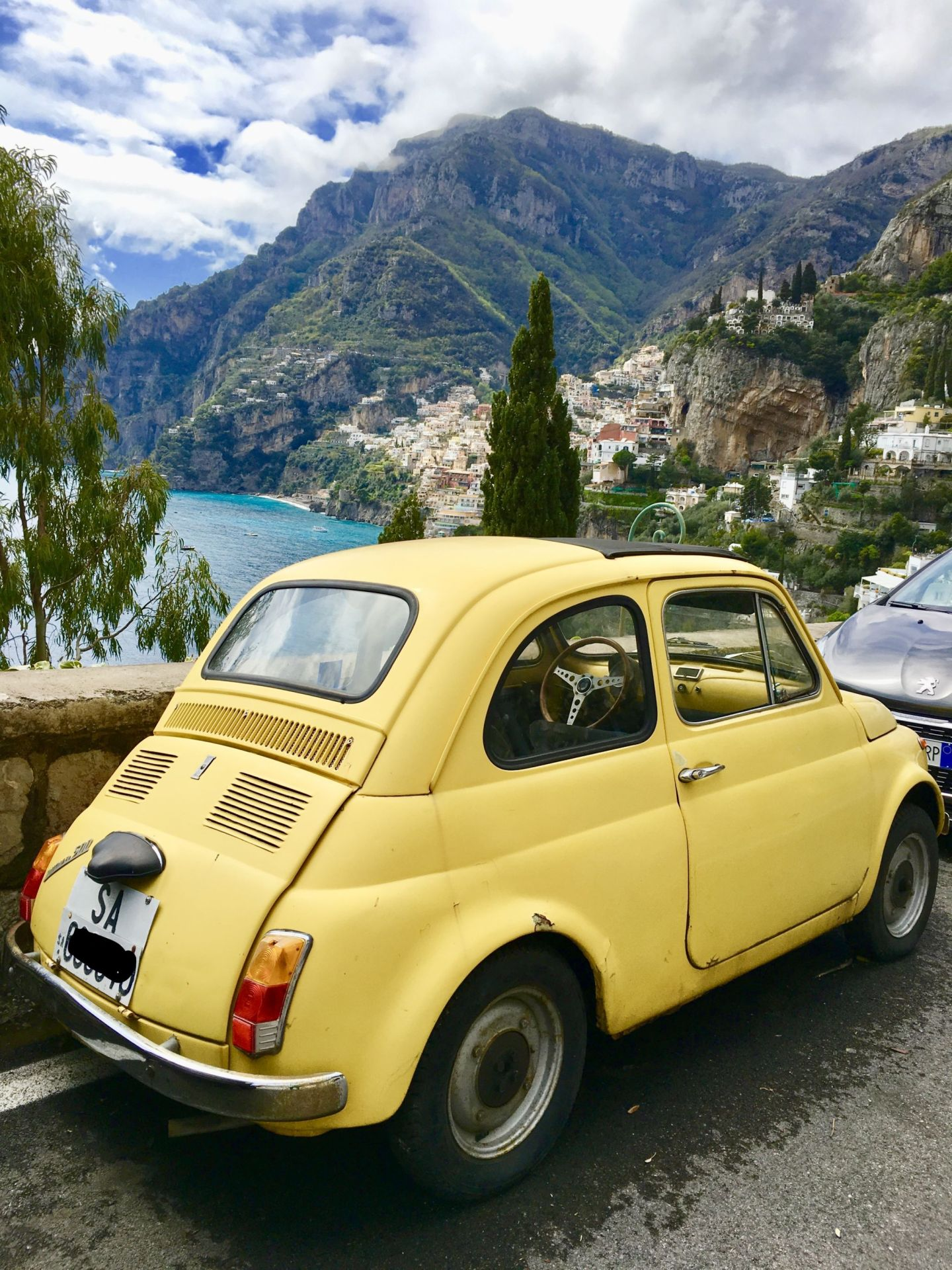 The smaller the better when selecting a car for a road trip along the Amalfi coast.