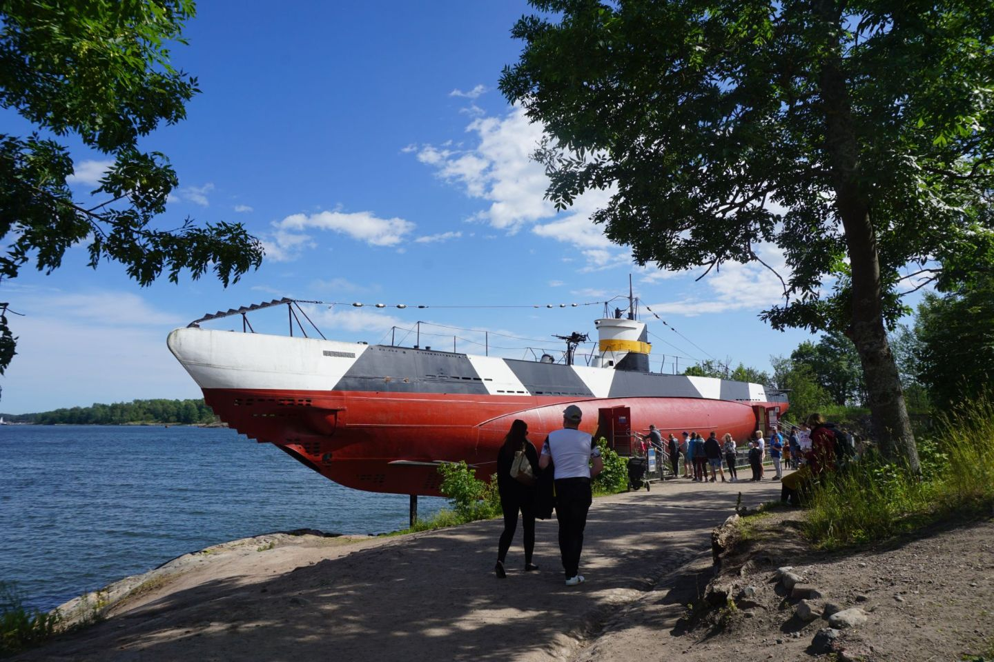 Submarine Vesikko is one of the most popular sights on the island of Suomenlinna