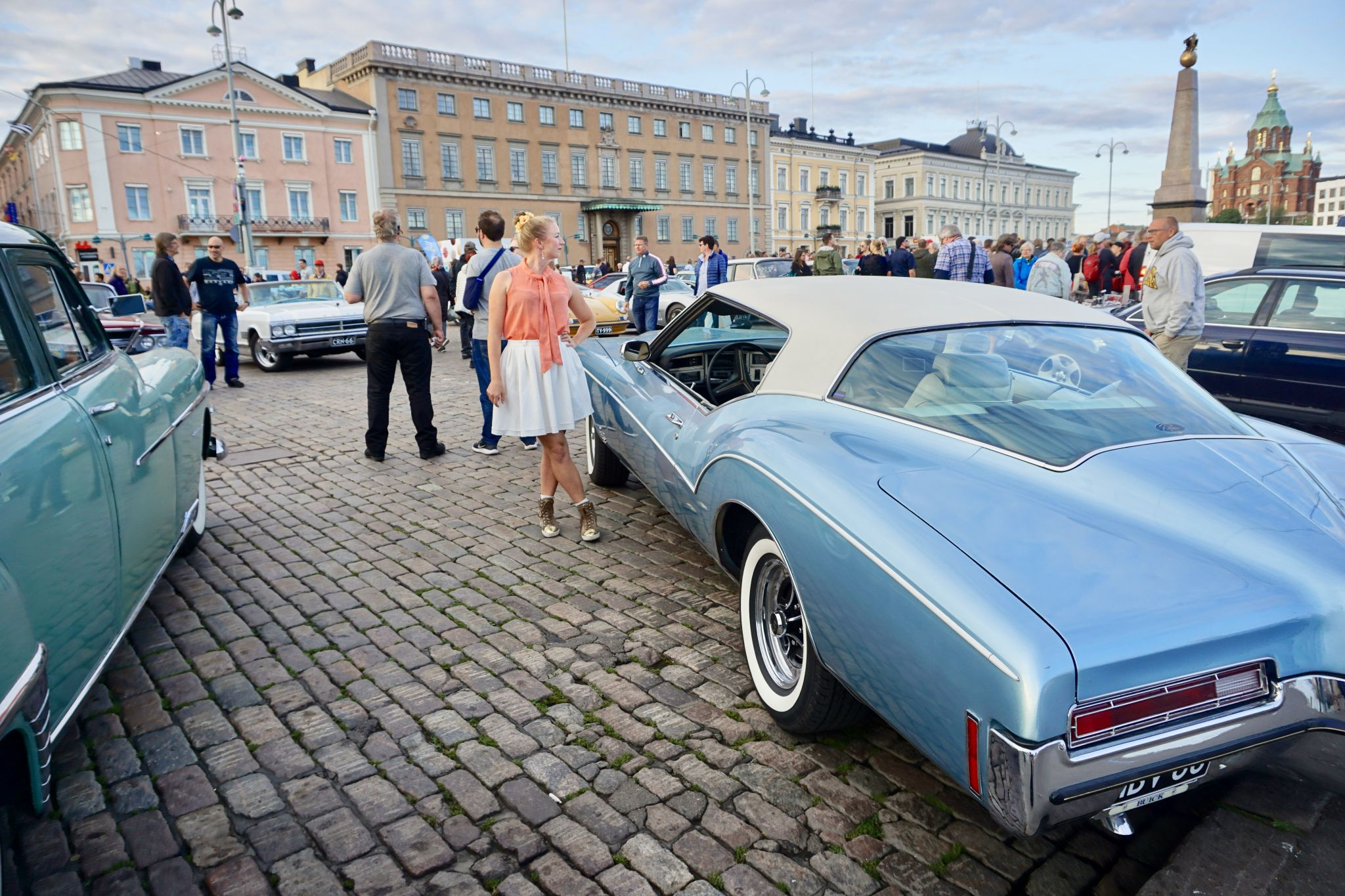 Vintage and Classic car gathering in Helsinki