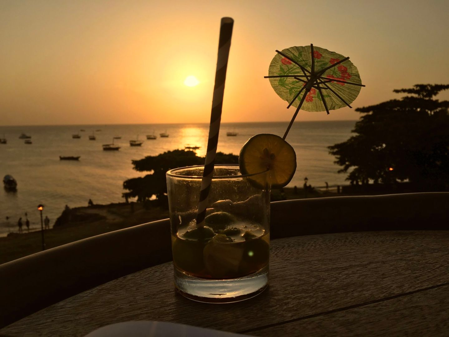 Sunset cocktails at Africa House in Stone Town