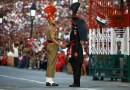 wagah border beating retreat